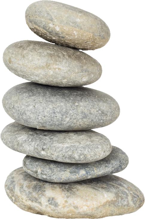 stapel stenen vrijgemaakt